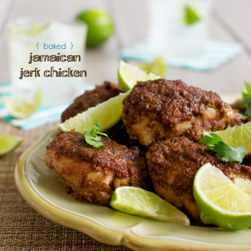 Baked Jerk Chicken Thighs Recipe