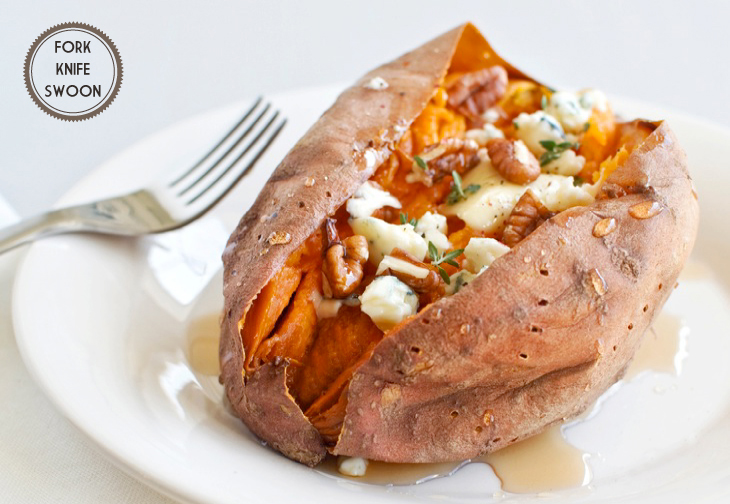 Loaded Baked Sweet Potato | Fork Knife Swoon